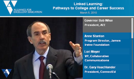 03.05.10 Linked Learning Event Video Image (Gov. Wise)