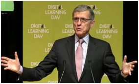 FCC Chairman Tom Wheeler speaks at the Alliance's Digital Learning Day event.