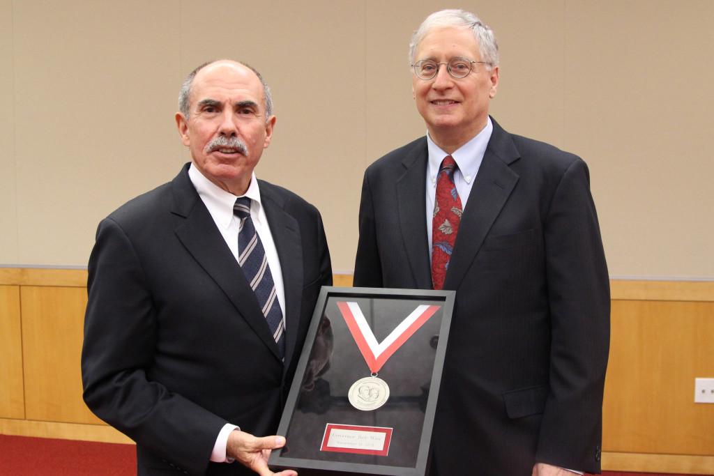 Governor Bob Wise Recieves Friday Award