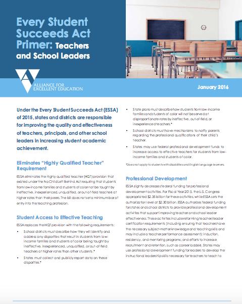 ESSA: Teachers and School Leaders