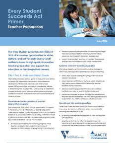 ESSA Primer Teacher Preparation