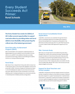 Every Student Succeeds Act Primer: Rural Schools
