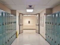 hallway with lockers (shutterstock)