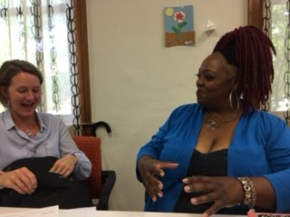 Arlyssa Heard (right) with Wendy Dougherty of Californians Dedicated to Education (CDE) Foundation